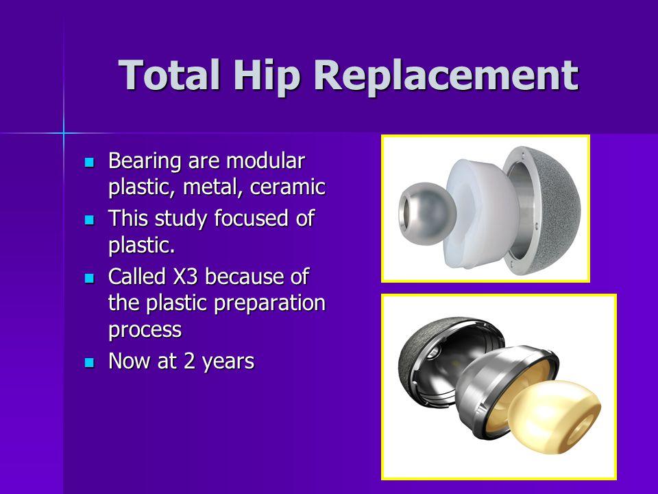 Total Hip Replacement Bearing are modular plastic, metal, ceramic Bearing are modular plastic, metal, ceramic This study focused of plastic.
