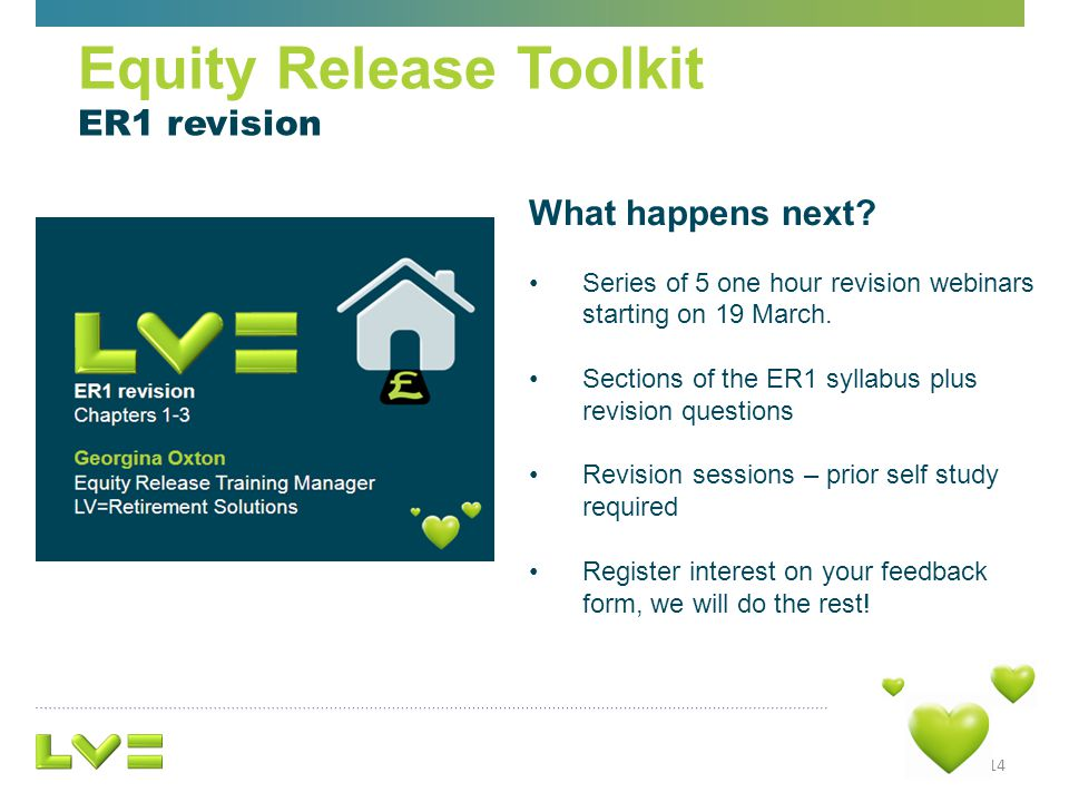 What happens next.Series of 5 one hour revision webinars starting on 19 March.