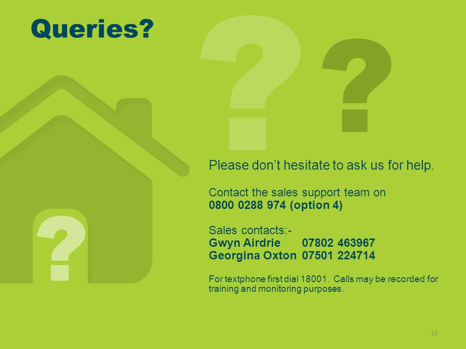Queries.15 . Please dont hesitate to ask us for help.