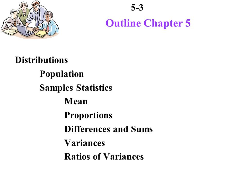 5-4 Outline Chapter 5 Other ways to organize samples Frequency Distributions Relative Frequency Distributions Computation Statistics for Grouped Data mean variance standard deviation