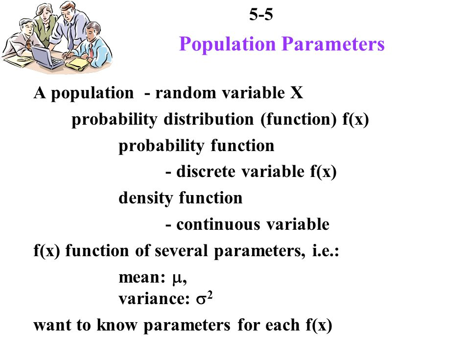 5-6 Example of a Population 5 project engineers in department total experience of (X) 2, 3, 6, 8, 11 years company performing statistical report employees expertise based on experience survey must include: average experience variance standard deviation