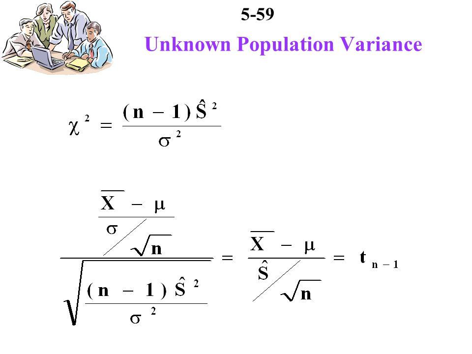 5-59 Unknown Population Variance
