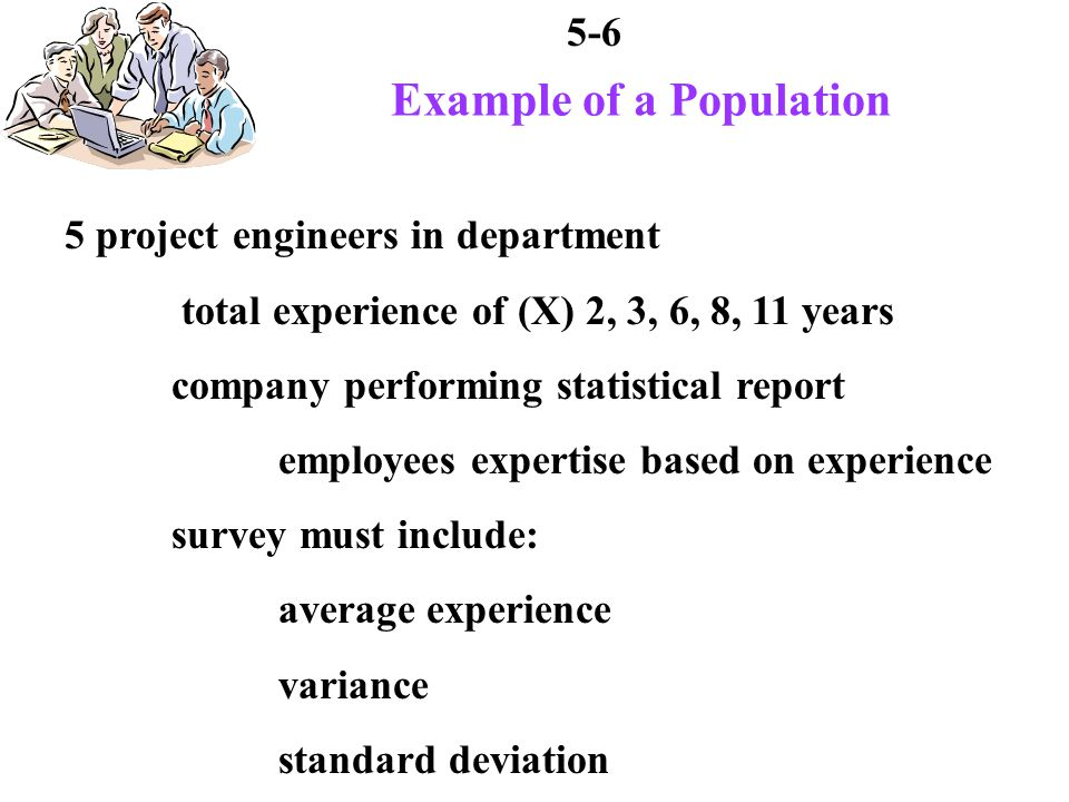 5-7 Mean of Population average experience mean: