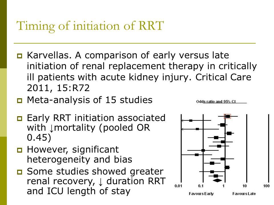 Timing of initiation of RRT Karvellas.
