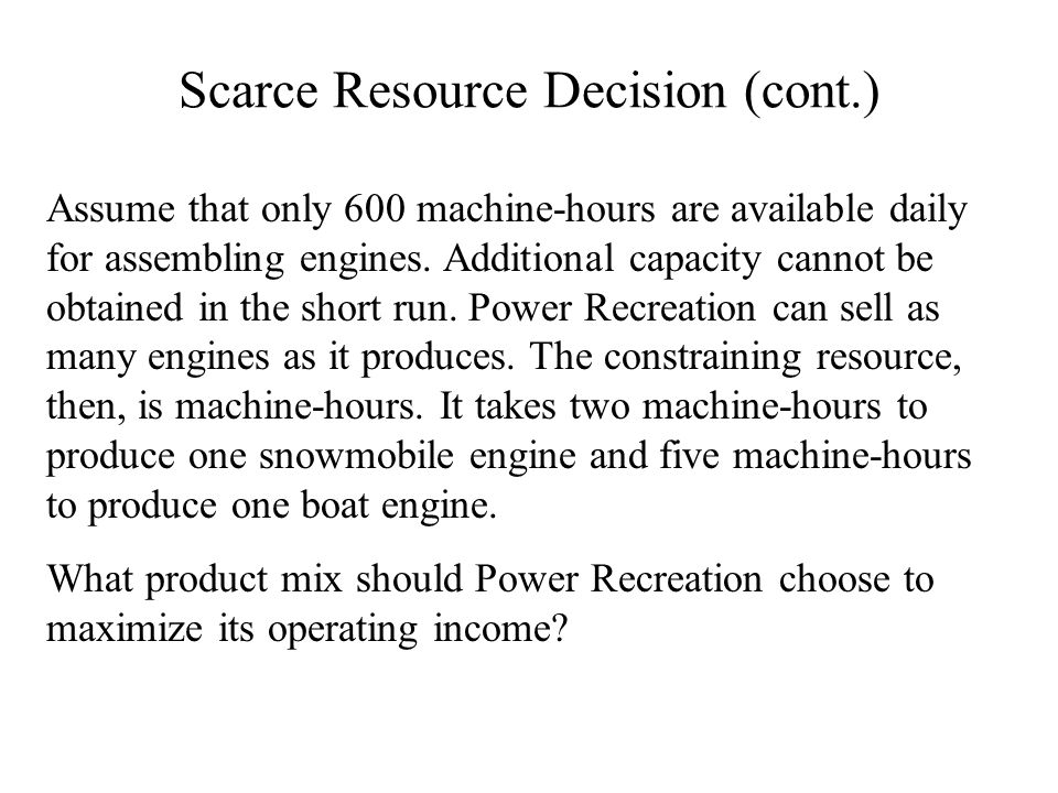 Analysis of Equipment Replacement Decisions Lets take a look at another decision faced by many businesses: W Should we replace a machine with a newer and more efficient one?