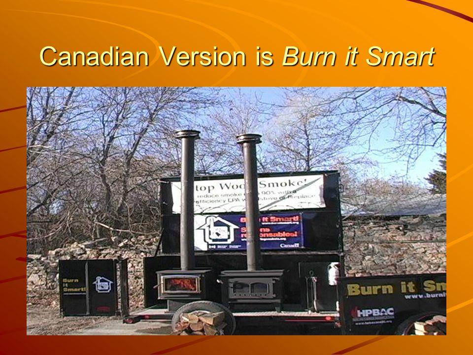 Canadian Version is Burn it Smart