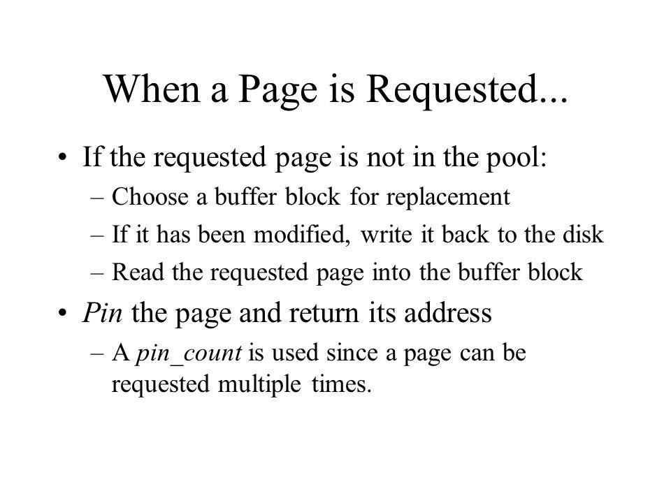 When a Page is Requested...