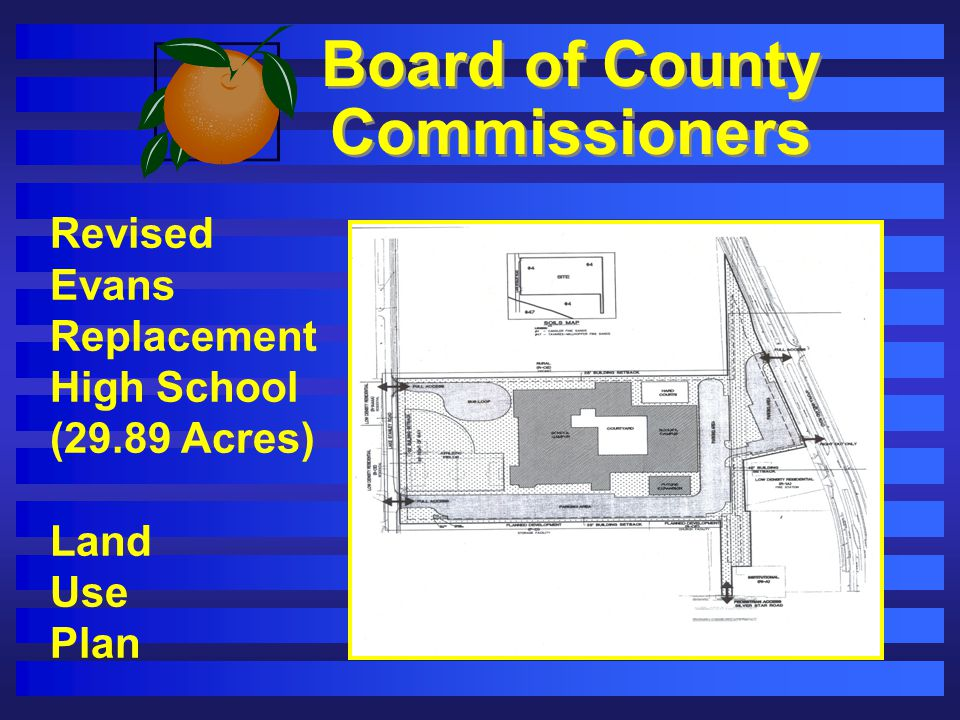 Board of County Commissioners Revised Evans Replacement High School (29.89 Acres) Land Use Plan