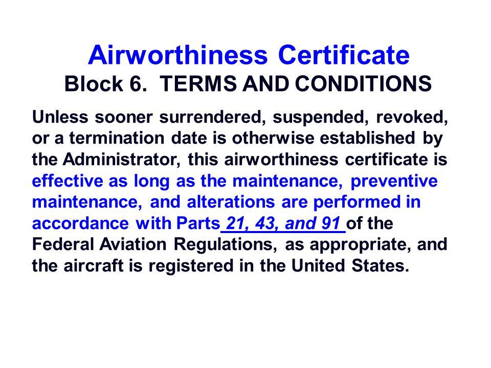 Airworthiness Certificate ä.ä.ä.ä. 6 VOID