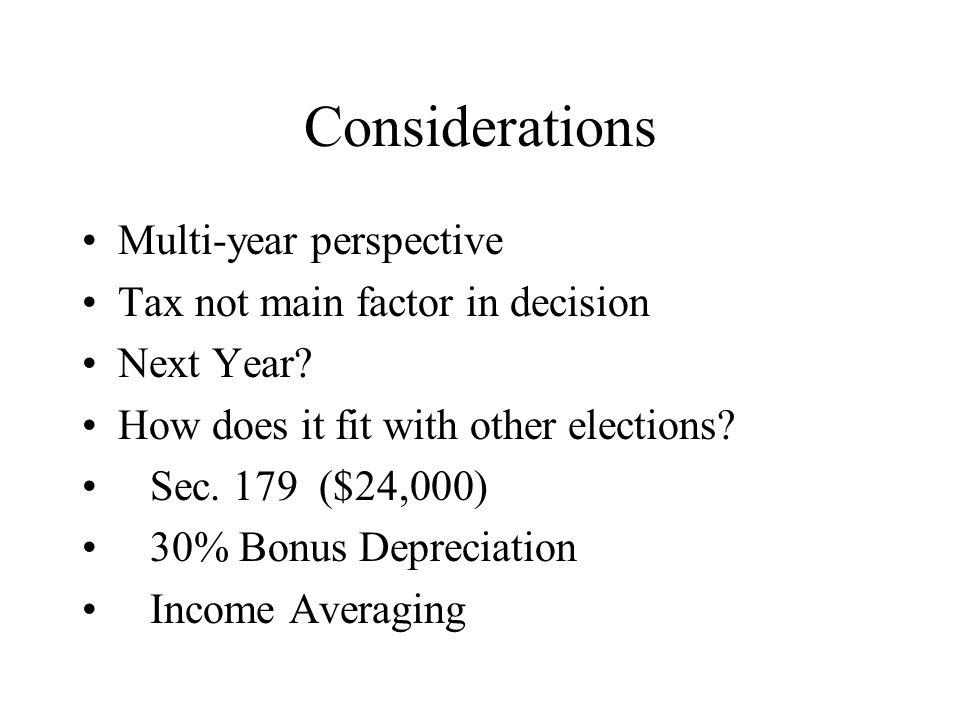 Considerations, 2 NOL Carrybacks/carryforwards Crop Insurance Proceeds – Election?