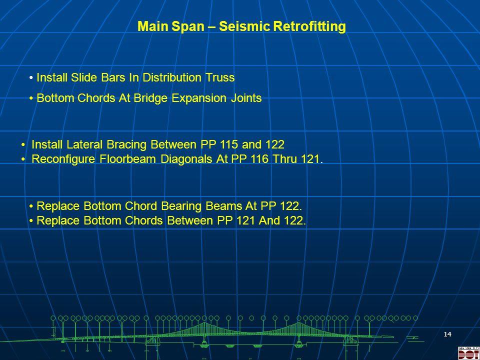 13 Ramp Structures Rehabilitation Existing Steel Beam Limits of Temporary Bridge Units