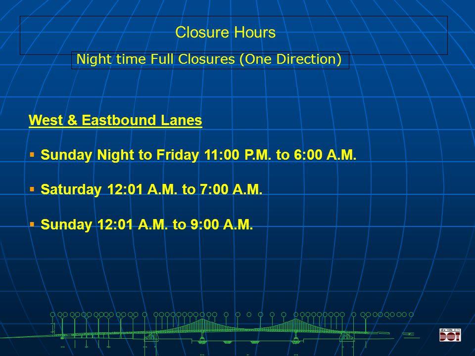 21 Westbound Detours C & D Manhattan Bridge 3.0 Miles Brooklyn Battery Tunnel 7.0 Miles