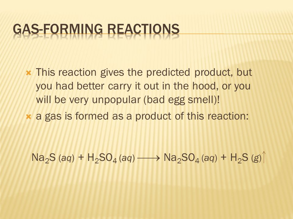 This reaction gives the predicted product, but you had better carry it out in the hood, or you will be very unpopular (bad egg smell).