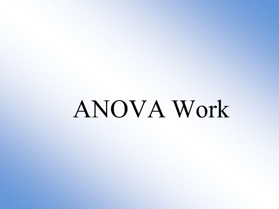 ANOVA Work
