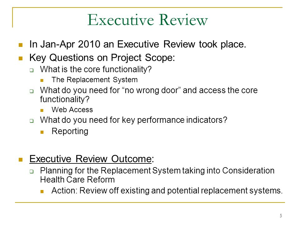 6 Health Care Reform Systems Reviewed: Visited Michigan (Five member HSD team) Technology: A good fit Project Management Office (PMO) key to Michigan s success Demo from California on C-IV C-IV (Old): Technology is old; good graphical interface ASPS (New): Technology a good fit; good graphical interface Demo from Tennessee and Maine Acceptable fit for HSD and Health Care Reform Other Demonstrations/Conversations Deloitte, Microsoft, Northrop Grumman Determination: Send out an open RFP for an Integrator using a contracted Procurement Specialist.