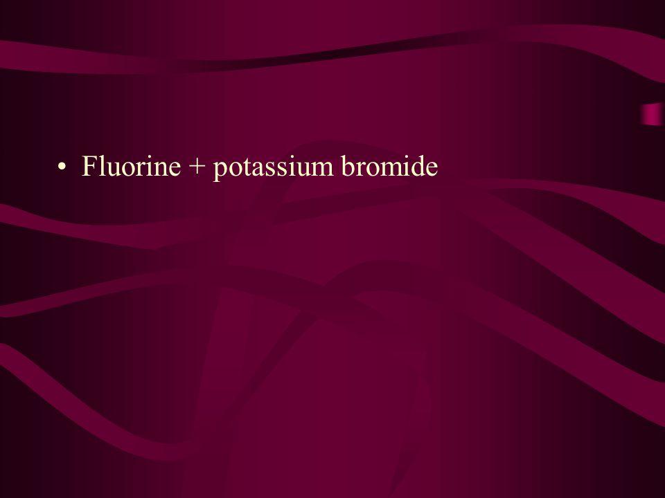 Fluorine + potassium bromide