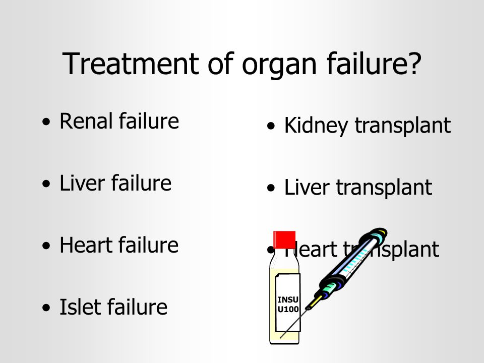 Treatment of organ failure.