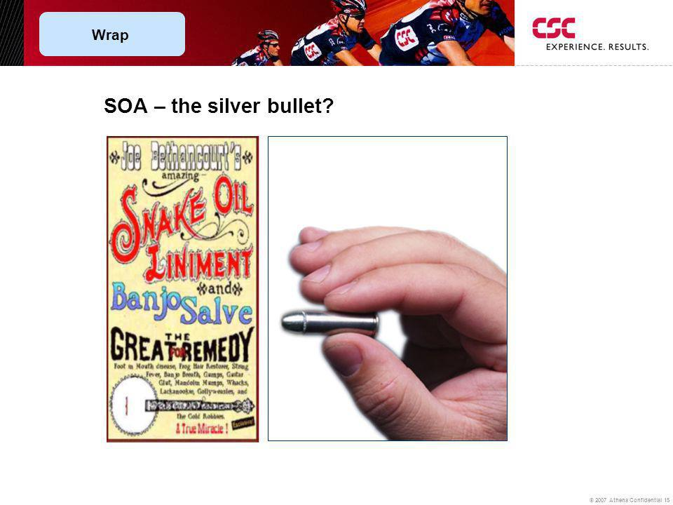 © 2007 Athena Confidential 15 SOA – the silver bullet? Wrap