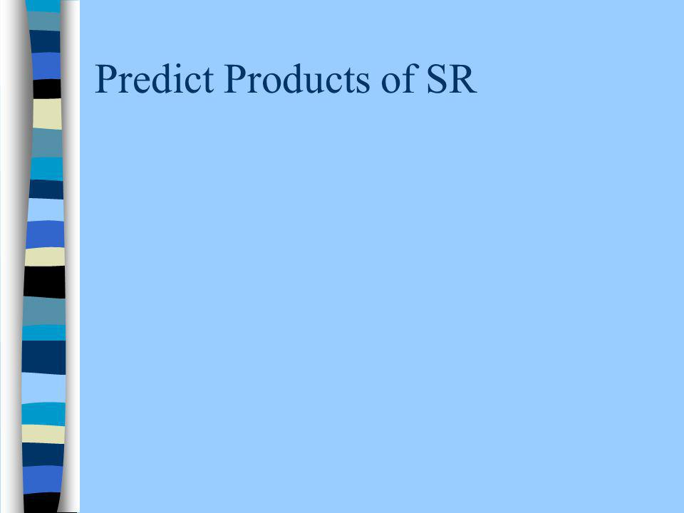 Predict Products of SR
