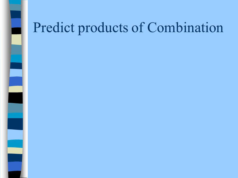 Predict products of Combination