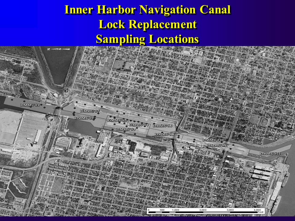 Inner Harbor Navigation Canal Lock Replacement Sampling Locations Inner Harbor Navigation Canal Lock Replacement Sampling Locations
