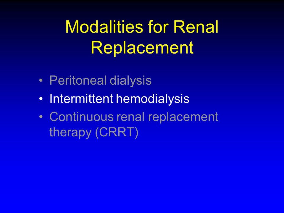 ppCRRT Data of Infants <10Kg: CRRT Treatment Data N=84 ParameterMedianRange Blood Flow (ml/kg/min) 81.7-46 Fluid Flow (ml/kg/hour)677-571 Average CRRT Clearance (ml/hr/1.73M 2 ) 2582135-19319 Aggregate CRRT Clearance (ml/hr/1.73M 2 ) 3540135-12713 CRRT duration (days)50-83