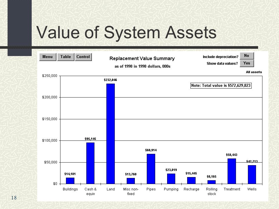 Value of System Assets 18