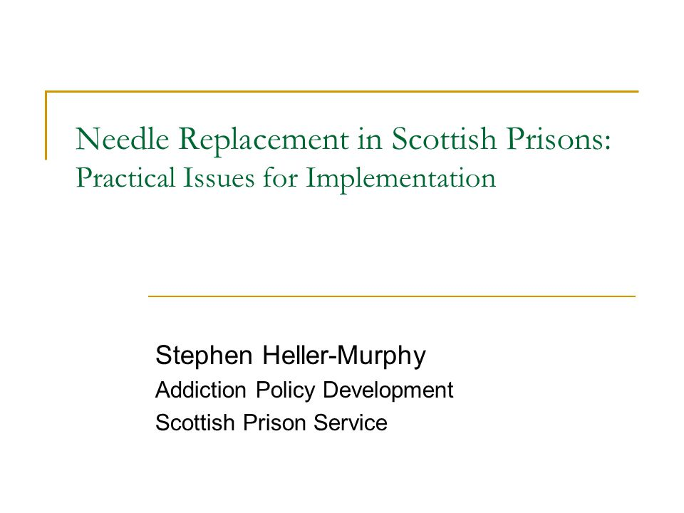 Practical Issues For Implementation What We Propose Recommendations to SPS board Prisoner Need Prisoner Survey data Management Acceptance Issues Consultation Q & A Staff Attitude Basic Training