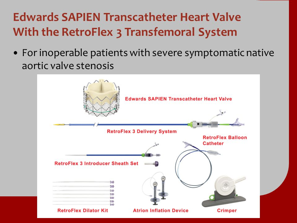 Repeat Hospitalization (ITT) Numbers at Risk TAVR TAVR1791151008964 Standard Rx Standard Rx179 86 86 49 493017 Repeat Hospitalization (%) Standard Rx TAVR at 2 yr = 37.5% NNT = 2.7 pts 72.5% 35.0% at 1 yr = 26.9% NNT = 3.7 pts 53.9% 27.0% Months HR [95% CI] = 0.41 [0.30, 0.58] p (log rank) < 0.0001