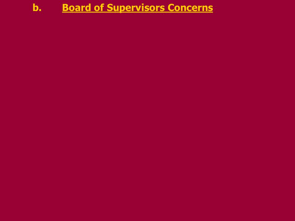b.Board of Supervisors Concerns