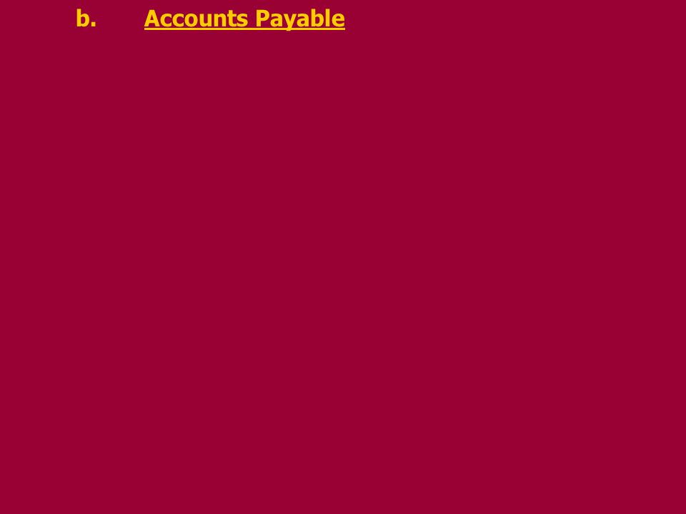 b.Accounts Payable