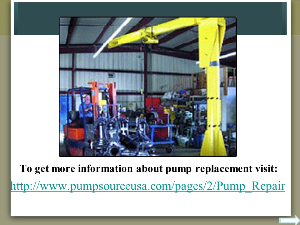 To get more information about pump replacement visit: