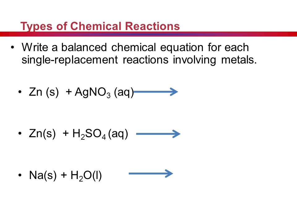 Replacement Reactions General Equation: A + BX AX+ B Other Info: A metal will not always replace a metal in a compound dissolved in water because of d