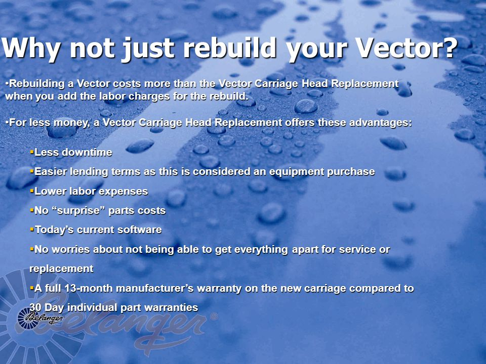 Why not just rebuild your Vector.