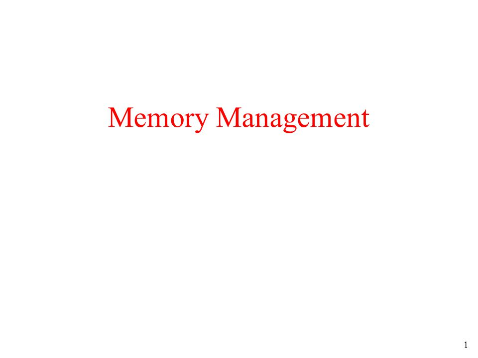2 Ideally programmers want memory that is –large –fast –non volatile Memory hierarchy –small amount of fast, expensive memory – cache –some medium-speed, medium price main memory –gigabytes of slow, cheap disk storage Memory manager handles the memory hierarchy