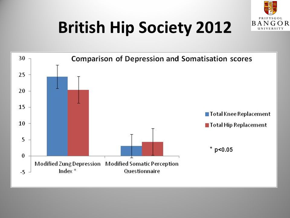 British Hip Society 2012 * p<0.05