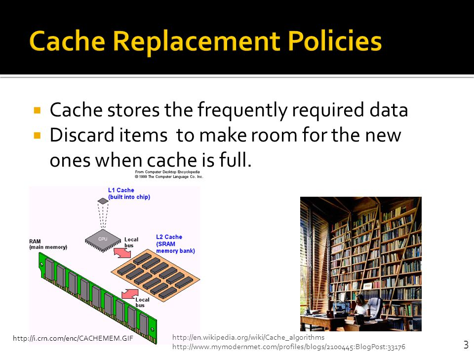 Efficient last-level cache(LLC) utilization Avoid long latency cache misses to main memory Need a practical cache replacement policy that is not only thrash-resistant but scan- resistant 4
