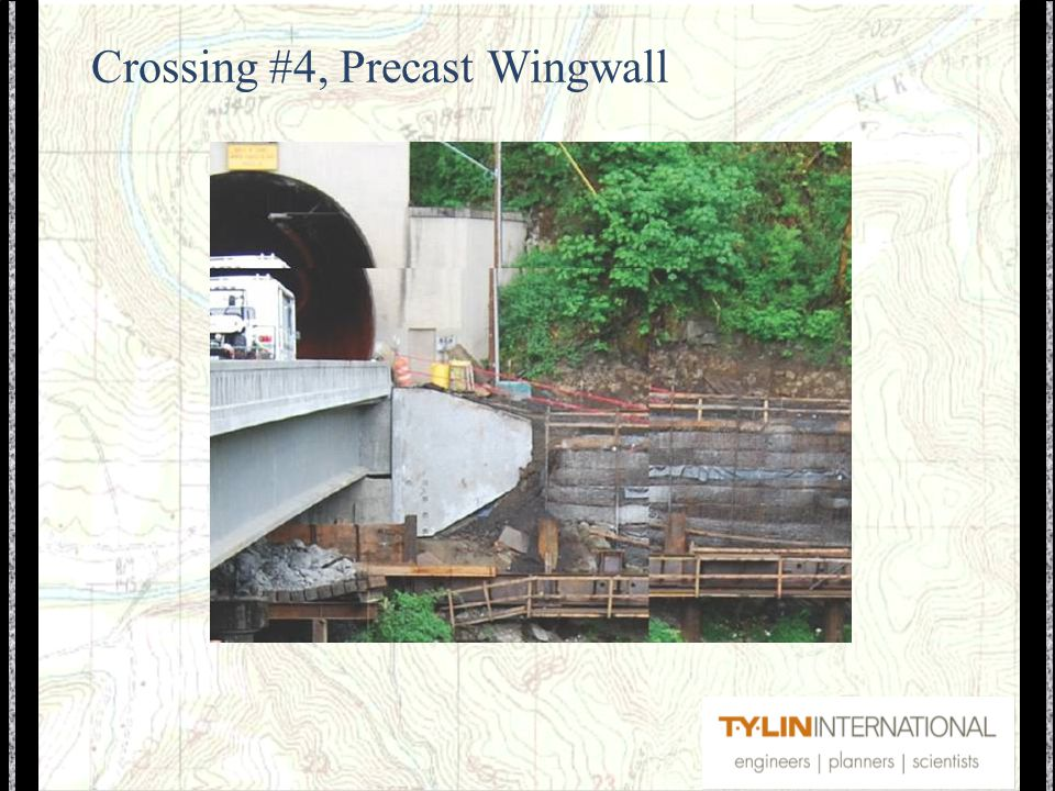 Crossing #4, Precast Wingwall