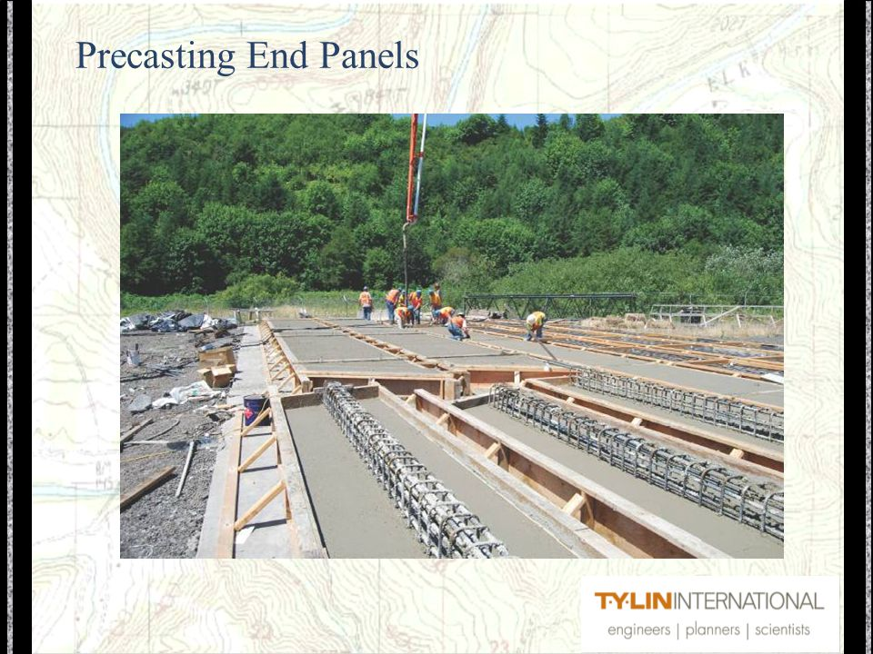Precasting End Panels