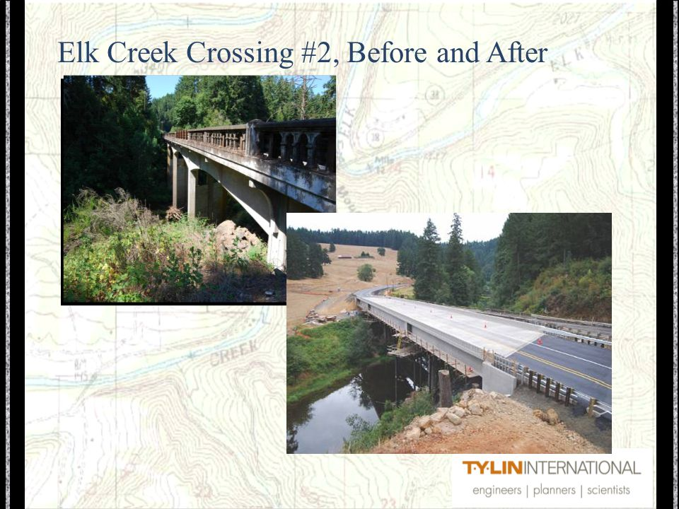 Elk Creek Crossing #2, Before and After