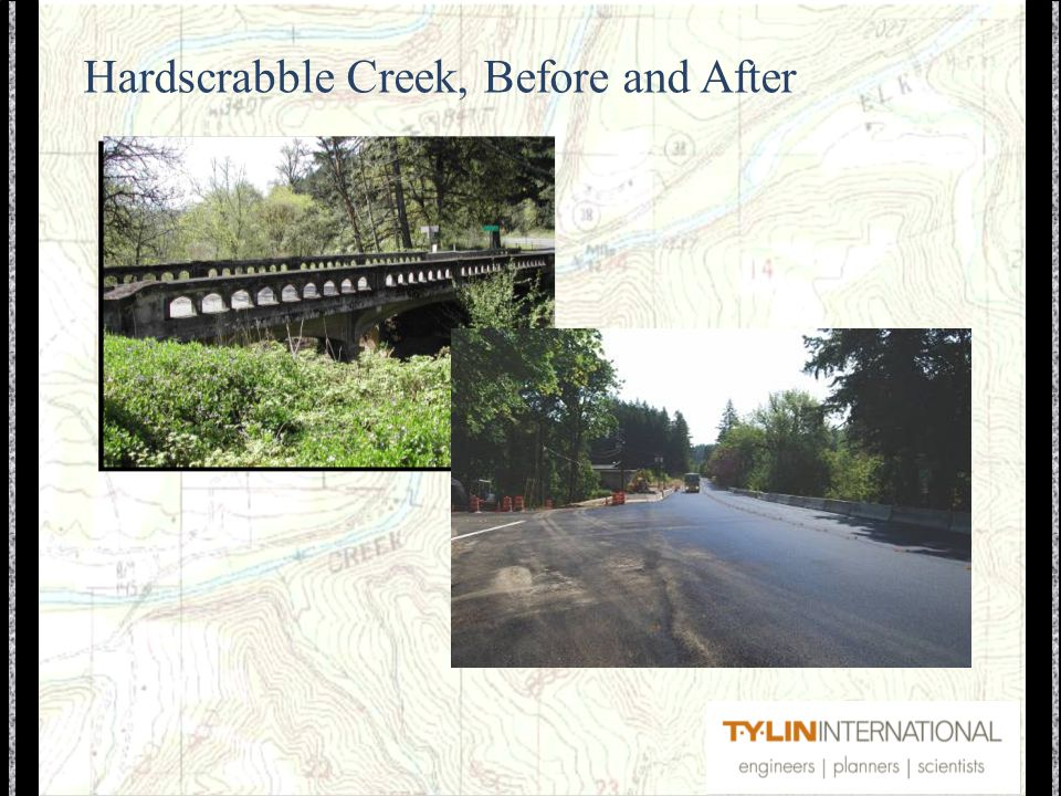 Hardscrabble Creek, Before and After
