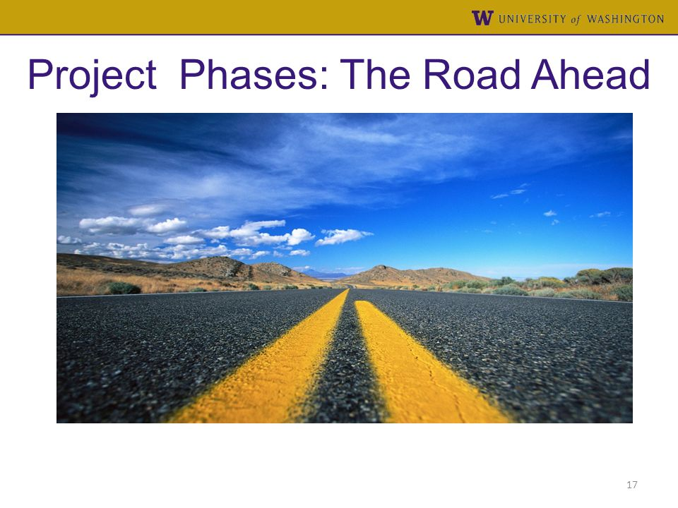 Project Phases: The Road Ahead 17