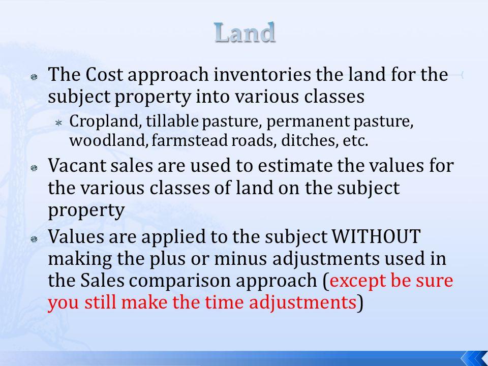 Tillable ground: 90 + CSR Cropland A 85 – 90 CSR Cropland B 50 acres of Cropland A$8,000/ac$400,000 75 acres of Cropland B 7,500 562,000 Total tillable$962,000 15 acres of pasture $1,050 $ 15,750 5 acres of farmstead $8,000 $ 40,000 2 acres of roads/ditches 0 0 Total non-tillable $ 55,750 22 acres $2,534 TOTAL $1,017,750 147 acres $6,923