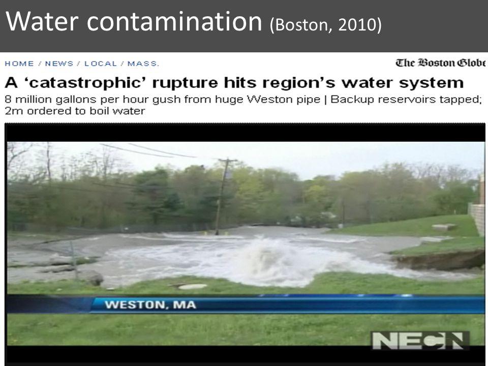 Water contamination (Boston, 2010)