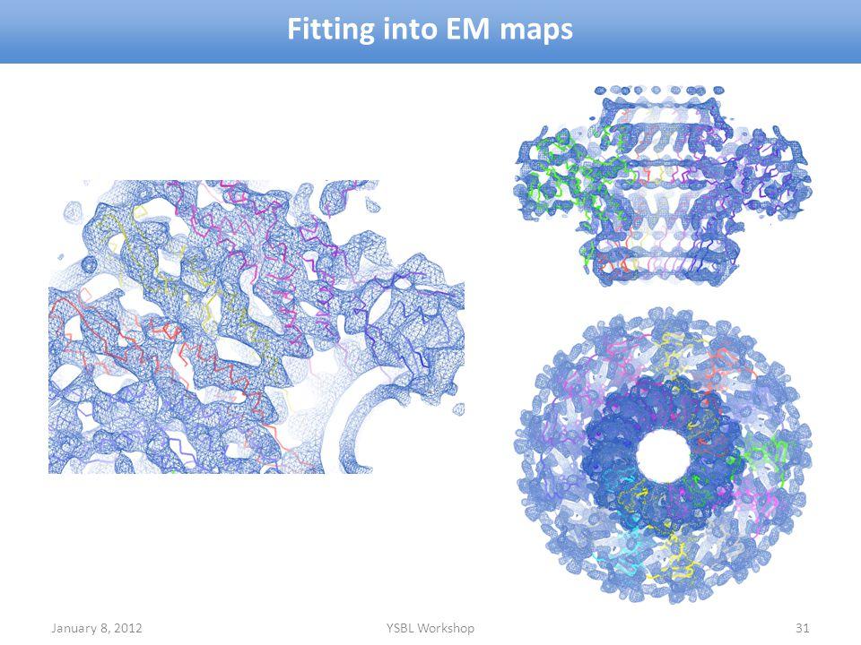 January 8, 2012YSBL Workshop31 Fitting into EM maps