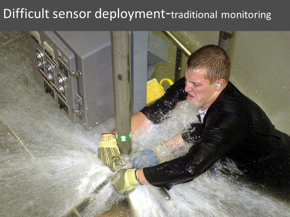 Difficult sensor deployment - traditional monitoring