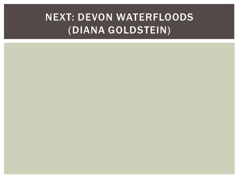 NEXT: DEVON WATERFLOODS (DIANA GOLDSTEIN)