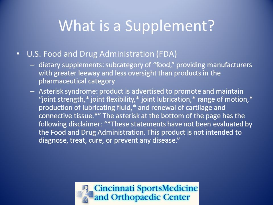 What is a Supplement. U.S.