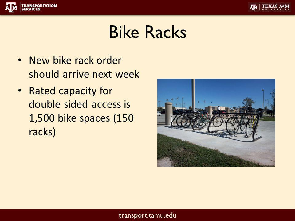 transport.tamu.edu New Racks