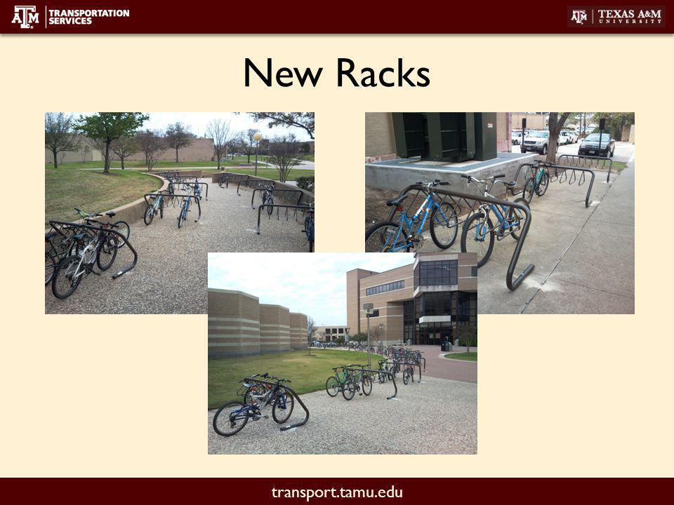 transport.tamu.edu Replacement Projects Evans (East Side) – 6 racks